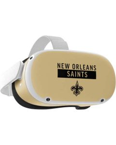 New Orleans Saints Gold Performance Series Oculus Quest 2 Skin