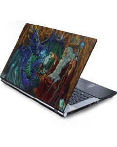 Dragon and Wizard Playing Chess Generic Laptop Skin