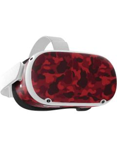 Red Street Camo Oculus Quest 2 Skin