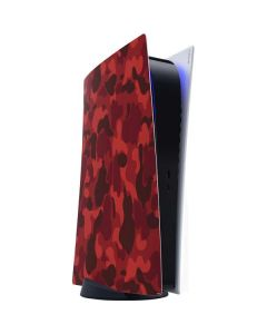 Red Street Camo PS5 Digital Edition Console Skin