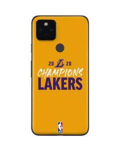 2020 Champions Lakers Google Pixel 4a 5G Skin