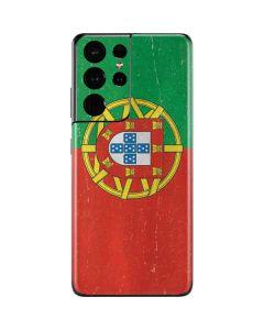 Portugal Flag Distressed Galaxy S21 Ultra 5G Skin
