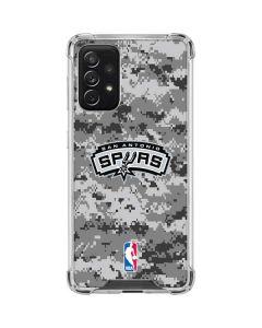 San Antonio Spurs Digi Camo Galaxy A72 5G Clear Case