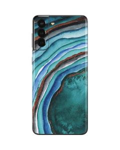 Turquoise Watercolor Geode Galaxy S21 Plus 5G Skin