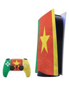 Cameroon Flag Distressed PS5 Digital Edition Bundle Skin