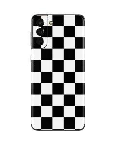 Black and White Checkered Galaxy S21 Plus 5G Skin