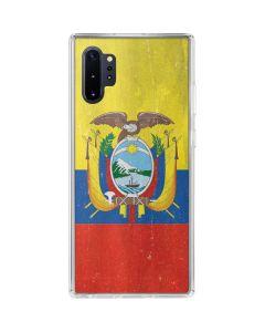 Ecuador Flag Distressed Galaxy Note 10 Plus Clear Case