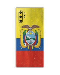 Ecuador Flag Distressed Galaxy Note 10 Plus Skin