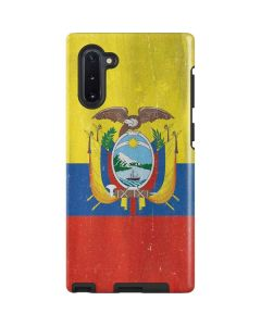 Ecuador Flag Distressed Galaxy Note 10 Pro Case