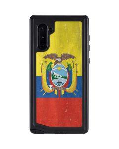 Ecuador Flag Distressed Galaxy Note 10 Waterproof Case