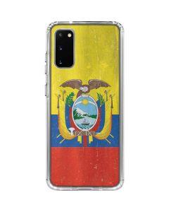 Ecuador Flag Distressed Galaxy S20 Clear Case