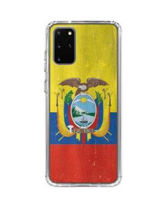 Ecuador Flag Distressed Galaxy S20 Plus Clear Case