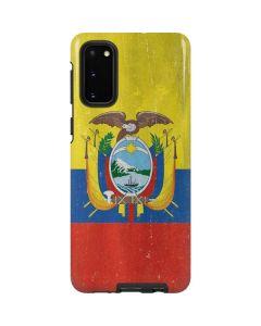 Ecuador Flag Distressed Galaxy S20 Pro Case