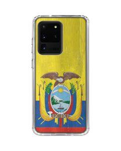 Ecuador Flag Distressed Galaxy S20 Ultra 5G Clear Case