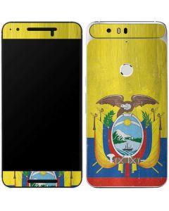 Ecuador Flag Distressed Google Nexus 6P Skin