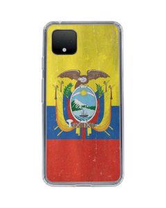 Ecuador Flag Distressed Google Pixel 4 XL Clear Case