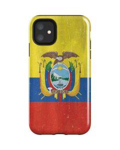 Ecuador Flag Distressed iPhone 11 Impact Case