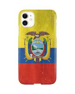 Ecuador Flag Distressed iPhone 11 Lite Case