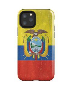 Ecuador Flag Distressed iPhone 11 Pro Impact Case