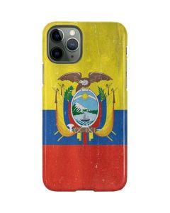 Ecuador Flag Distressed iPhone 11 Pro Lite Case