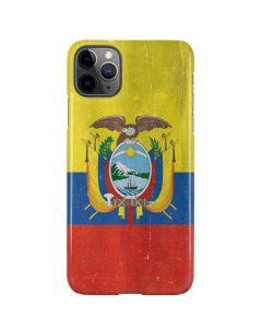 Ecuador Flag Distressed iPhone 11 Pro Max Lite Case
