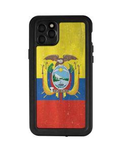 Ecuador Flag Distressed iPhone 11 Pro Max Waterproof Case