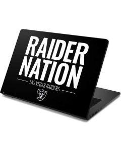 Las Vegas Raiders Team Motto Dell Chromebook Skin