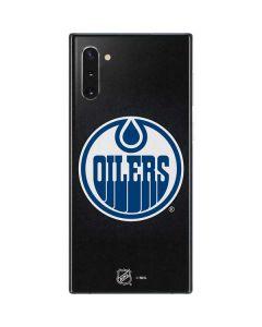 Edmonton Oilers Black Background Galaxy Note 10 Skin