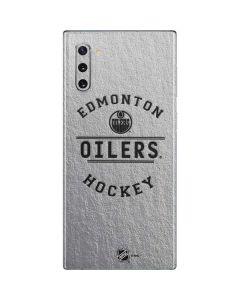 Edmonton Oilers Black Text Galaxy Note 10 Skin