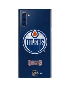 Edmonton Oilers Distressed Galaxy Note 10 Skin