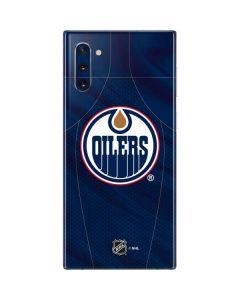 Edmonton Oilers Home Jersey Galaxy Note 10 Skin