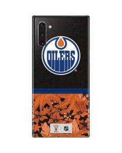 Edmonton Oilers Retro Tropical Print Galaxy Note 10 Skin