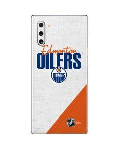 Edmonton Oilers Script Galaxy Note 10 Skin