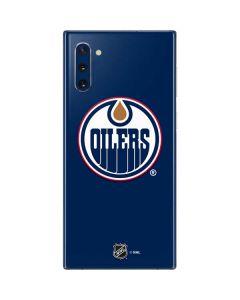 Edmonton Oilers Solid Background Galaxy Note 10 Skin