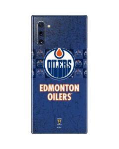 Edmonton Oilers Vintage Galaxy Note 10 Skin