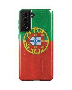 Portugal Flag Distressed Galaxy S21 Plus 5G Case