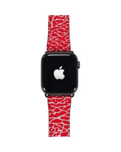 Elephant Print Red Apple Watch Band 42-44mm