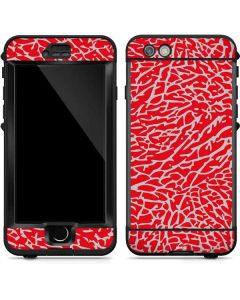Elephant Print Red LifeProof Nuud iPhone Skin