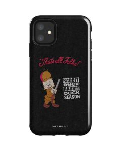 Elmer Fudd Thats All Folks iPhone 11 Impact Case