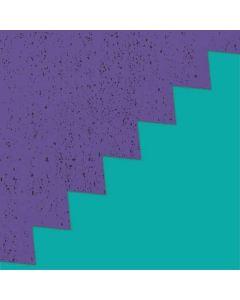 Purple Turquoise Zig Zag Apple TV Skin