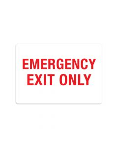 "Emergency Exit Only 7"" x 10"" Wall Graphic"