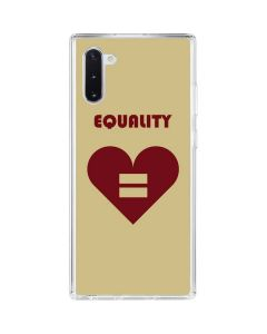 Equality Heart Galaxy Note 10 Clear Case
