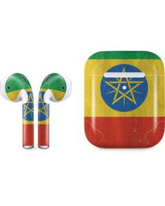 Ethiopia Flag Distressed Apple AirPods 2 Skin