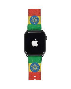 Ethiopia Flag Distressed Apple Watch Case