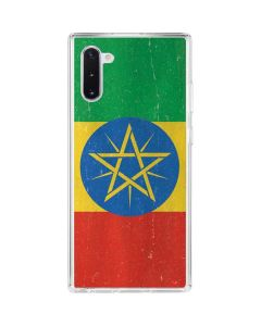 Ethiopia Flag Distressed Galaxy Note 10 Clear Case