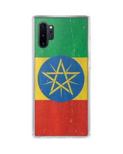 Ethiopia Flag Distressed Galaxy Note 10 Plus Clear Case