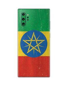 Ethiopia Flag Distressed Galaxy Note 10 Plus Skin