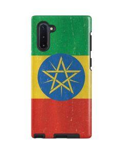 Ethiopia Flag Distressed Galaxy Note 10 Pro Case