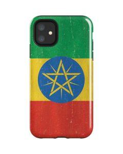Ethiopia Flag Distressed iPhone 11 Impact Case