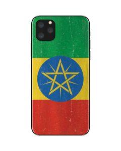 Ethiopia Flag Distressed iPhone 11 Pro Max Skin